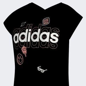Adidas Girl's V-Back Tee